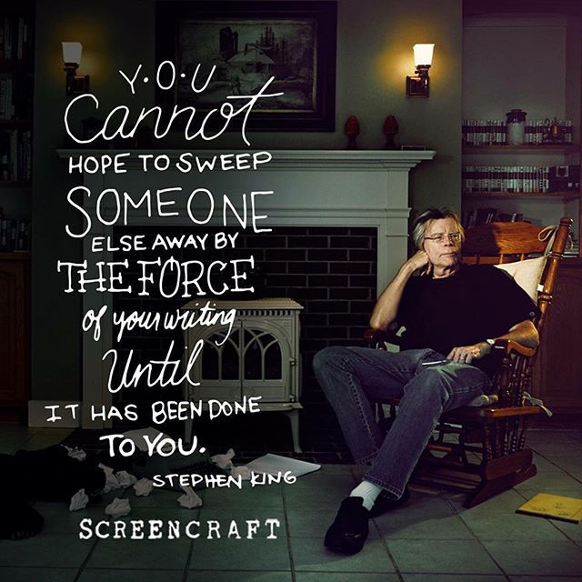 Does your #writing sweep you away? #ScreenCraft #writersofinstagram #screenwriting #filmmaking #creativewriting
