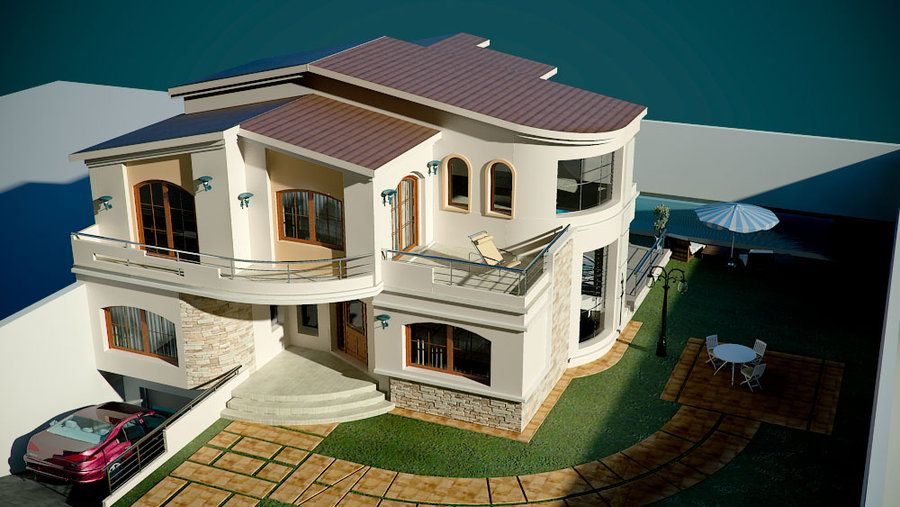 VILLA MODERNE 3 by uticlive | Projet | Pinterest | Villa, House and ...