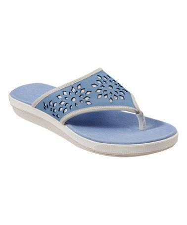 Love this Bashful Blue Idelle Relaxology® Leather Thong Sandal - Women on #zulily! #zulilyfinds