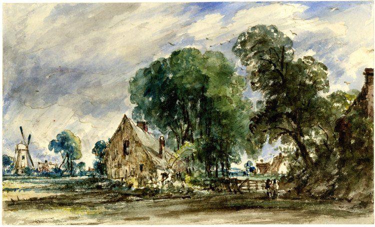 John Constable Watercolour In 2019 Watercolor Art Painting