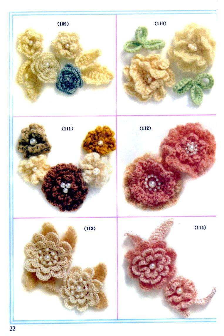 Flowers & leaves & loads of other patterns in Russian. | Crochet ...