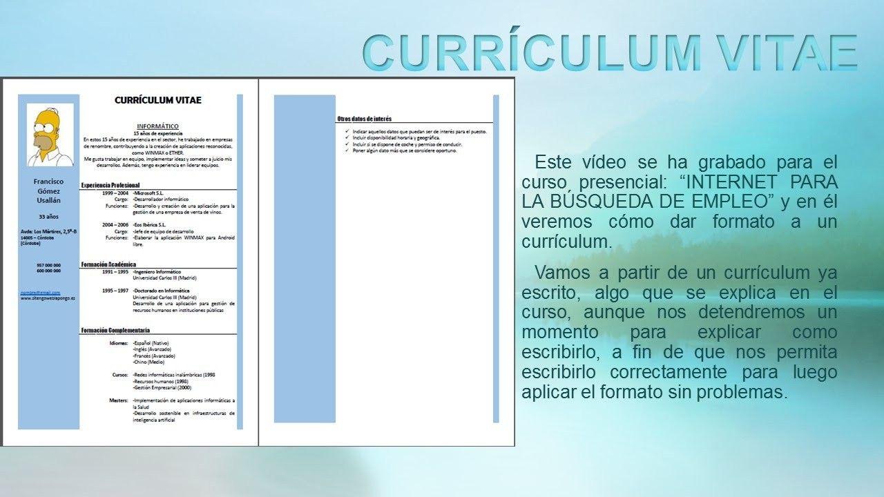 Evidencia 1 Curriculum Vitae How Evidencia 1 Curriculum