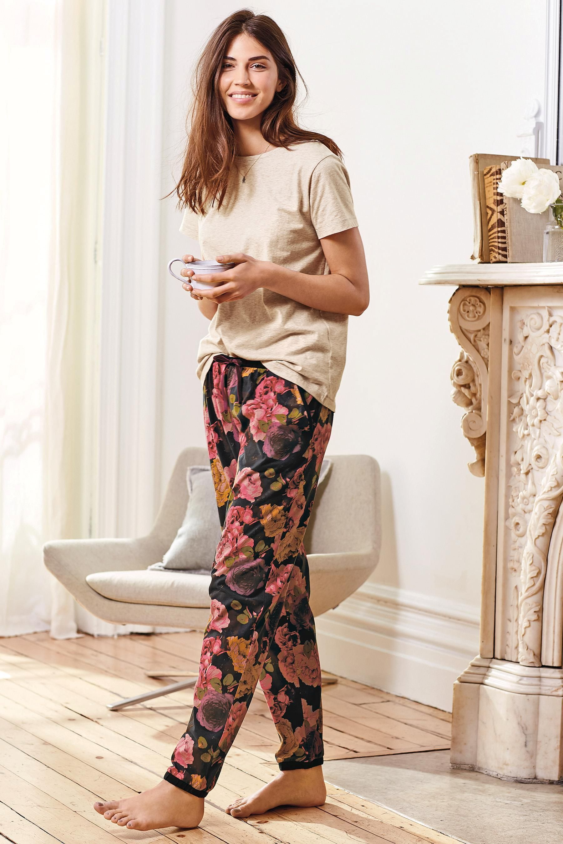 56dfbb7a82 Buy Floral Printed Jersey Pyjamas from the Next UK online shop ...