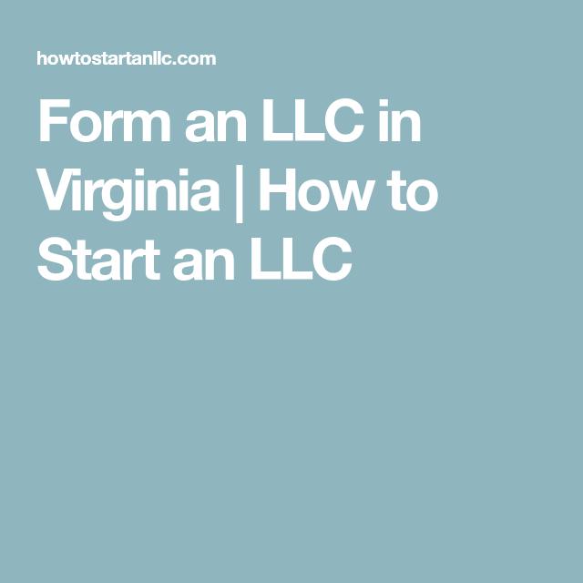 Form An Llc In Virginia How To Start An Llc Kentucky Llc Virginia