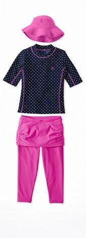 Short Sleeve Surf Shirt Navy Polka Dot Outfit