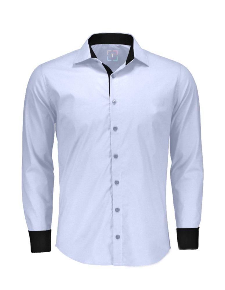 34411c9935 1) Camisas Social Masculina Slim - Atacado - Promoção - P Ao Gg - R ...