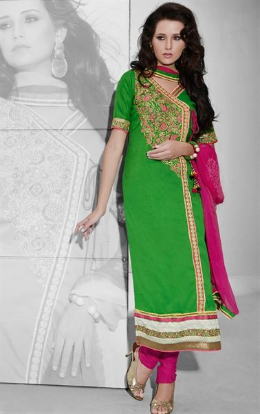 e63641b1b73 Picture of Dazzling Dark Green Color Party Wear Salwar Suit ...