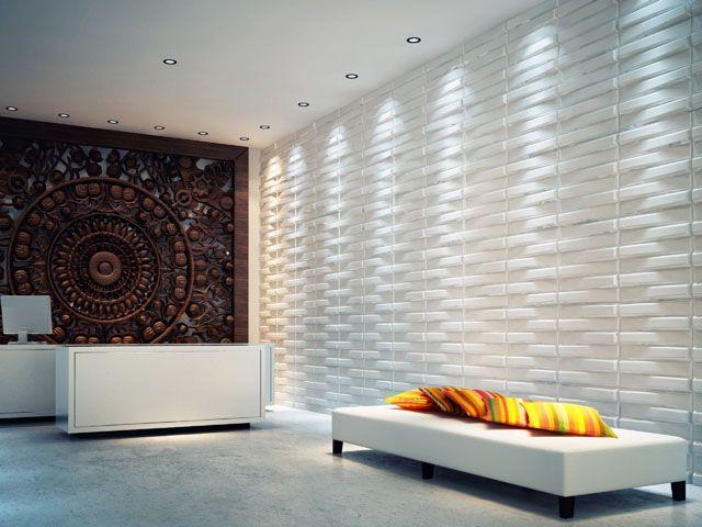 Bricks Design 3D Glue on Wall Panel Plant Fiber Material   Brick ...