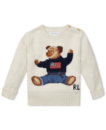 Polo Ralph Lauren Baby Boys Polo Bear Cotton Sweater Chic