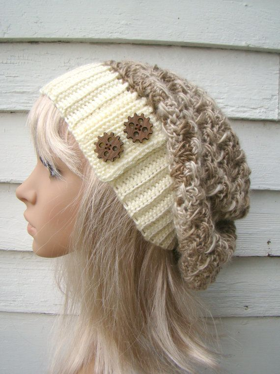 Steampunk Crochet Slouch Hat etsy ladies hat by HookMadness, $32.00