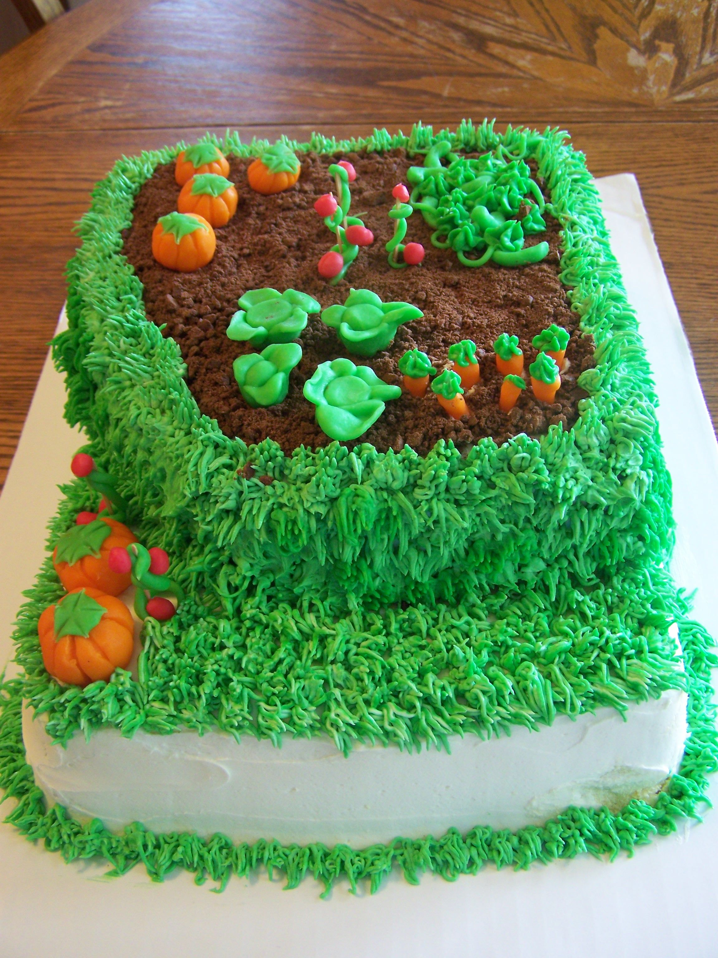 garden cake I made my husband for his birthday! | let\'s eat cake ...