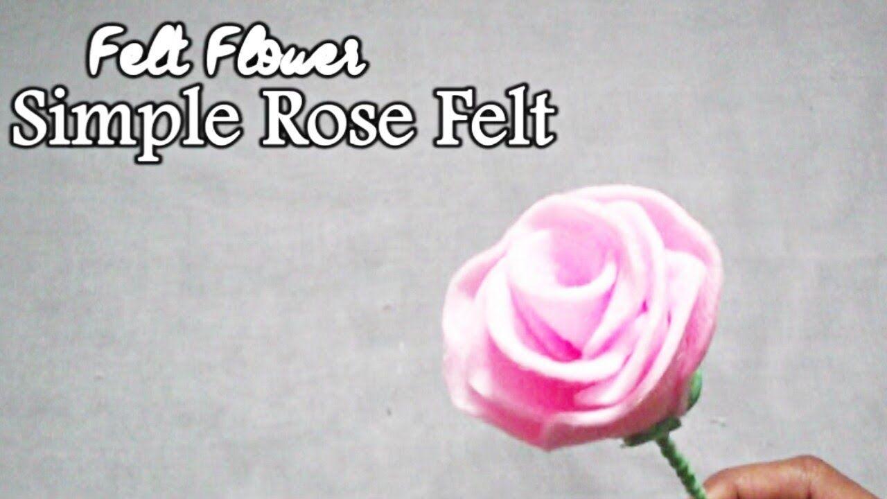 Gambar Bunga Mawar Simple How To Make Rose Felt Flower Simple Diy Bunga Mawar Dari Kain Flanel Gambar Sketsa Bunga Mawar Hitam Put Gambar Bunga Bunga Mawar