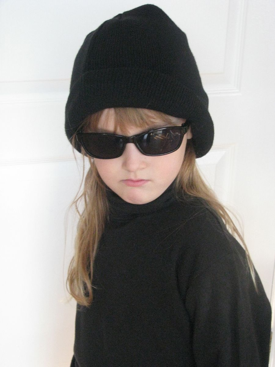 Everyone was given a black turtleneck, black sunglasses and black touque when they arrived