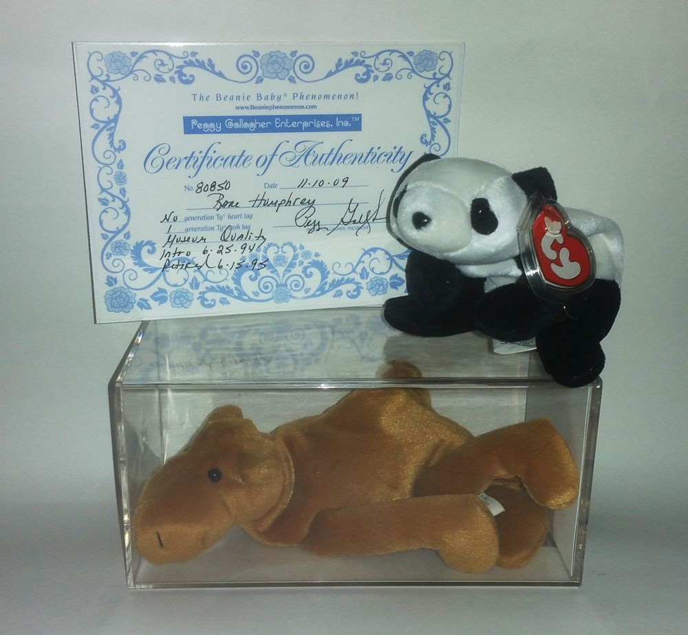 8b6cdce551e TY Authenticated Mint Humphrey the Camel 1st Gen Beanie Baby + Free Gift  Peking  Ty