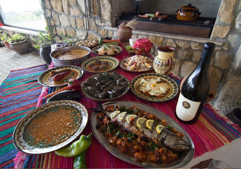 Traditional Bulgarian Buffet at BlackSeaRama Clubhouse Bistro