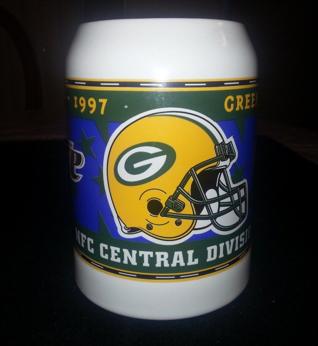 Green Bay Packers 1997 NFC Central Division Champions Miller Lite Beer Stein Mug | Hill Country Picker