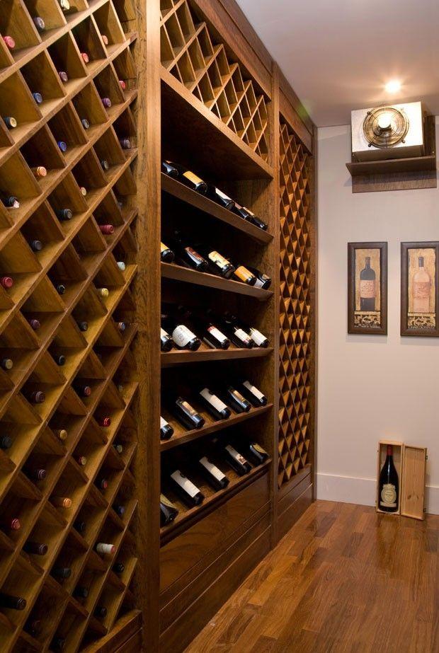 Elegant Basement Wine Rack