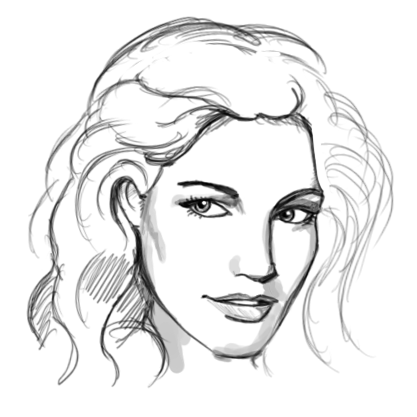 Pin By Sarina Proctor On Draw Face Sketch Female Face Drawing Face Outline