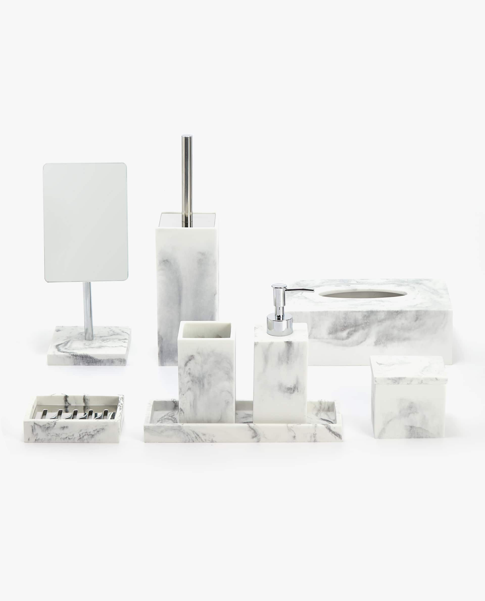 Image 1 Of The Product Marble Effect Bathroom Set Bathroom Sets