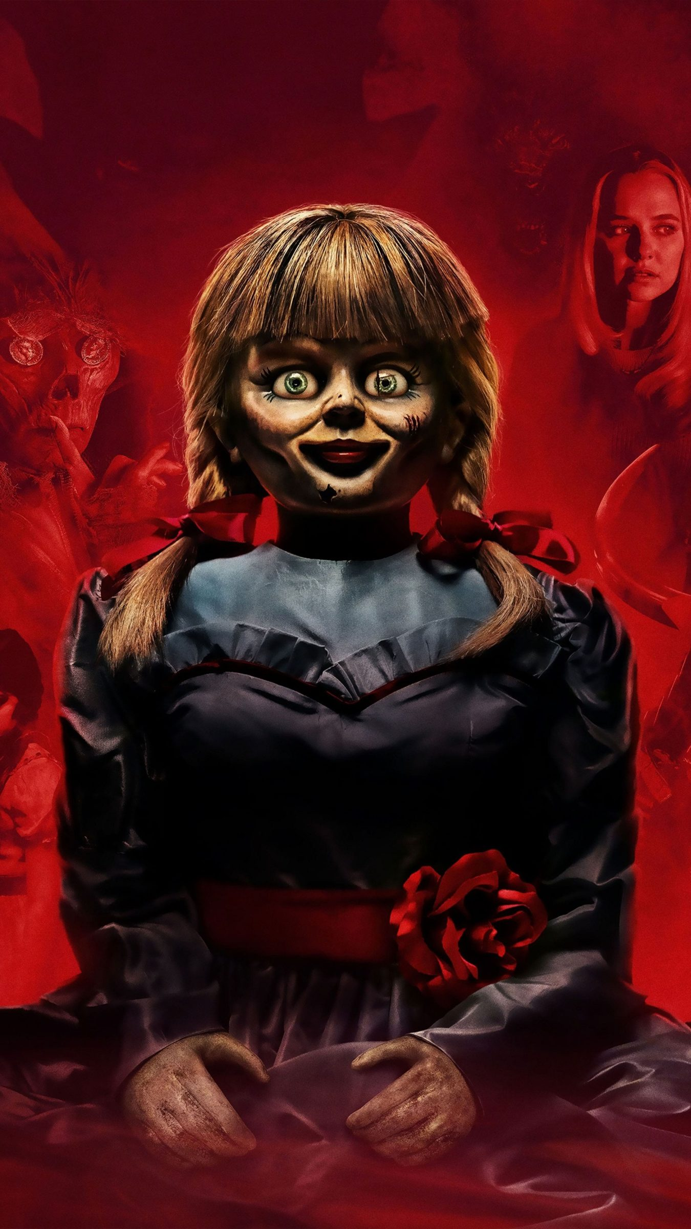 Annabelle Comes Home Hd Wallpapers 7wallpapers Net Annabelle Doll Horror Wallpapers Hd Scary Wallpaper