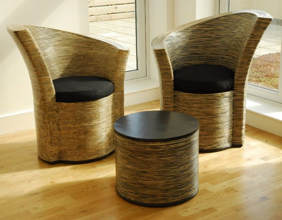 Rattan Furniture Indoor | Rattan Conservatory Chairs. Modern Curvy ...