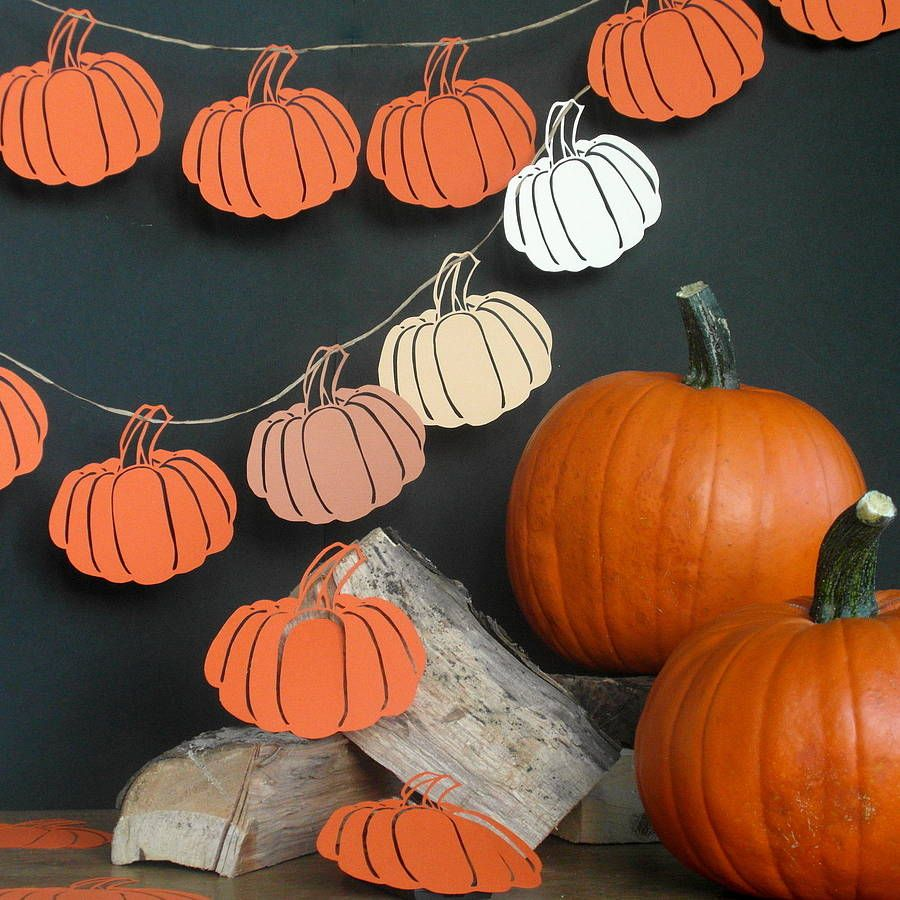 Halloween Garland Halloween Garland Pumpkin Decorating Pumkin