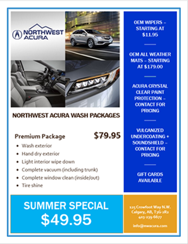 Don T Forget To Take Advantage Of Our Detail Package Which Is Priced At Only 49 95 Regular 79 95 Call Us At 403 239 6677 To Book With Images North West