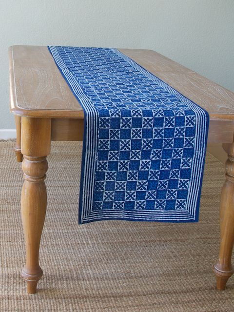 Exceptional Blue Batik TABLE RUNNER:Our Blue Batik Table Runner Is Perfect For Any Table  Regardless Of The Occasion. | Print   Starry Nights | Pinterest