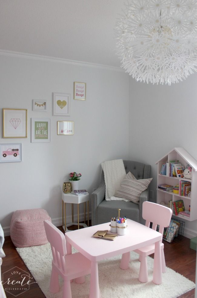 One Room Challenge Week Six The Big Reveal Love Create Celebrate Toddler Girl Room Toddler Bedroom Girl Small Room Bedroom One room challenge week six