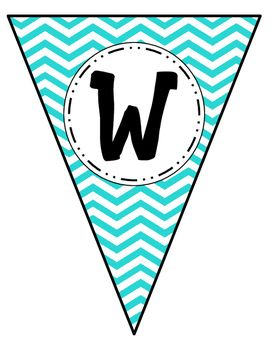 word wall banner letters pennants chevron free school classroom