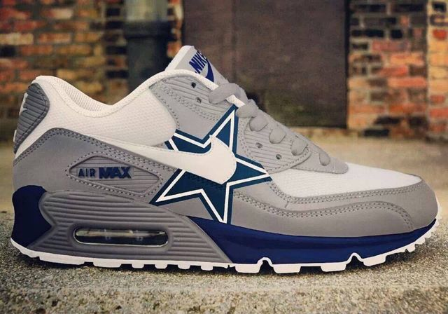 Dallas Cowboys Nike Air Max 90 New Release Custom Senakers