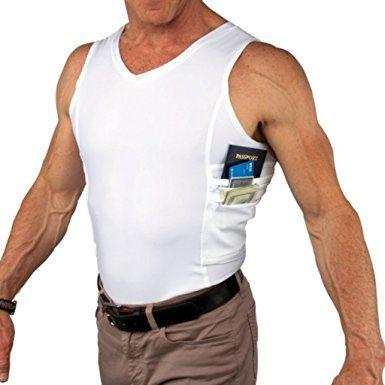 011b25110634c Romano Undershirts Vest with One Hidden Pocket Travel Safe Travel Shirts