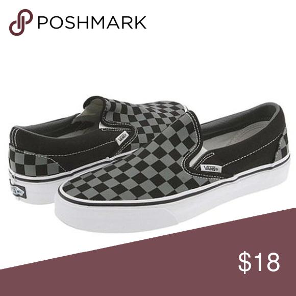 Vans- Black \u0026 Gray Checkered   Vans