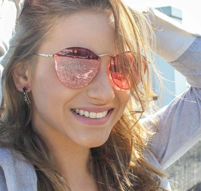 7fc6ac56d615d Óculos Ray Ban® RB3574 – Blaze Round – Rose