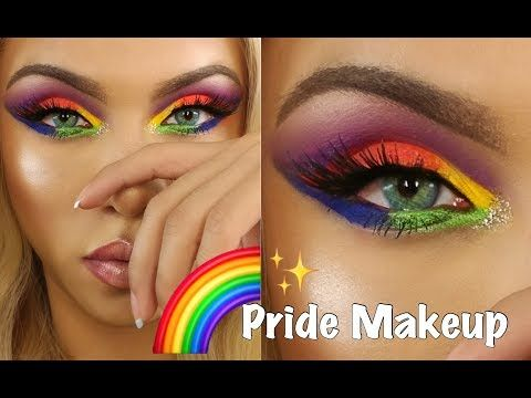 Lgbtq Pride Makeup Tutorial Rainbow Eyeshadow Youtube Rainbow Eye Makeup Rainbow Makeup Rainbow Eyeshadow
