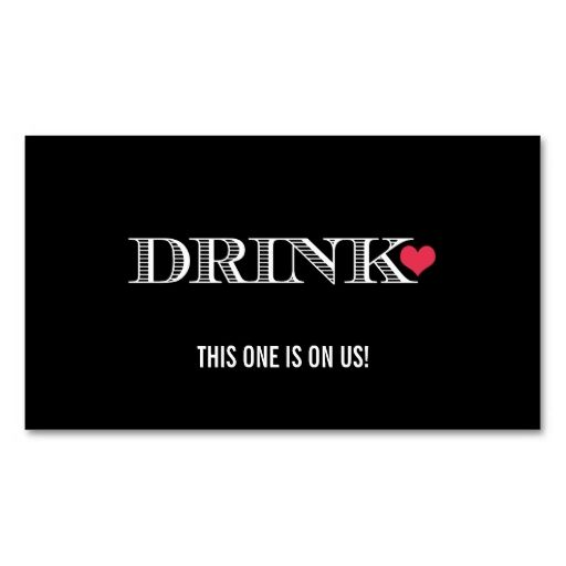 Cute heart black red wedding drink ticket black red wedding card templates reheart Choice Image