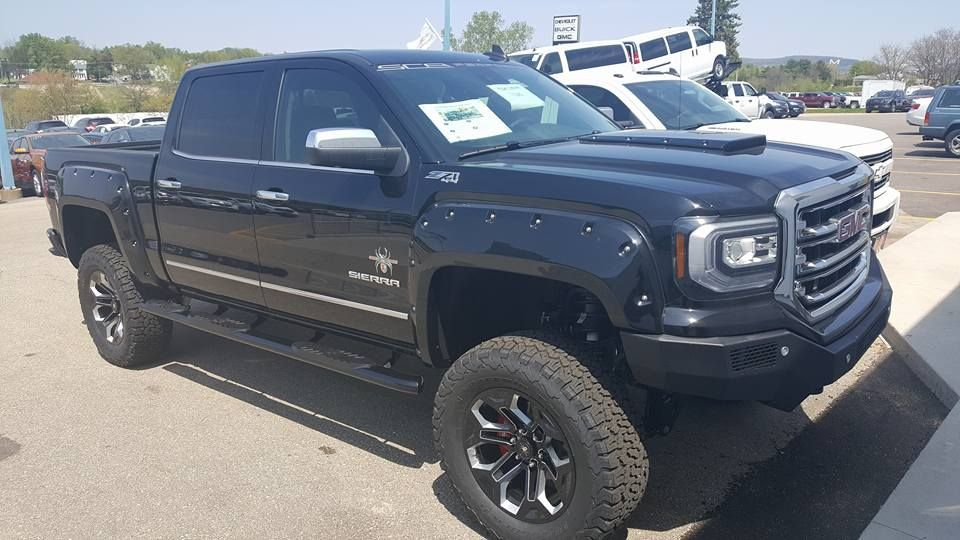 Stand Out With This 2017 Gmc Sierra 1500 4wd Crew Cab Slt Black Widow Edition At Rundeautogroup Com Chevrolet Dealership Gmc Sierra Crew Cab Gmc Trucks