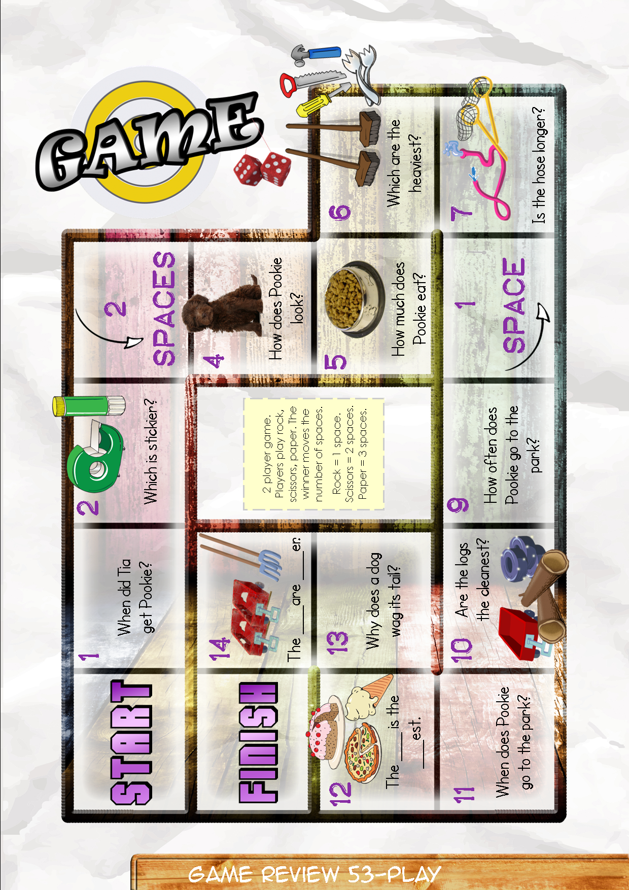 Game Board 53 Contents Game Review Booklet And Theme