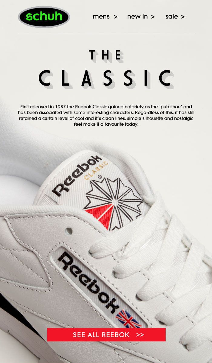 dc712b50edd Reebok. Find this Pin and more on Advertisements ...