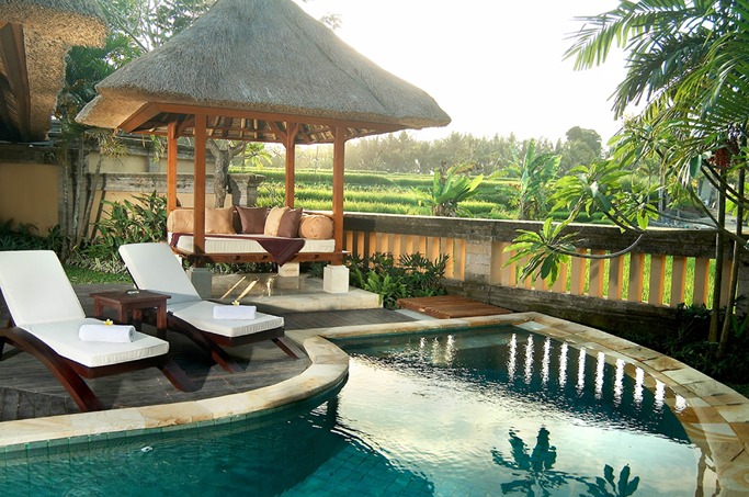 This Is The View From Our Villa Http Resort Theubudvillage Com Ubud Garden Pool Outdoor Pool