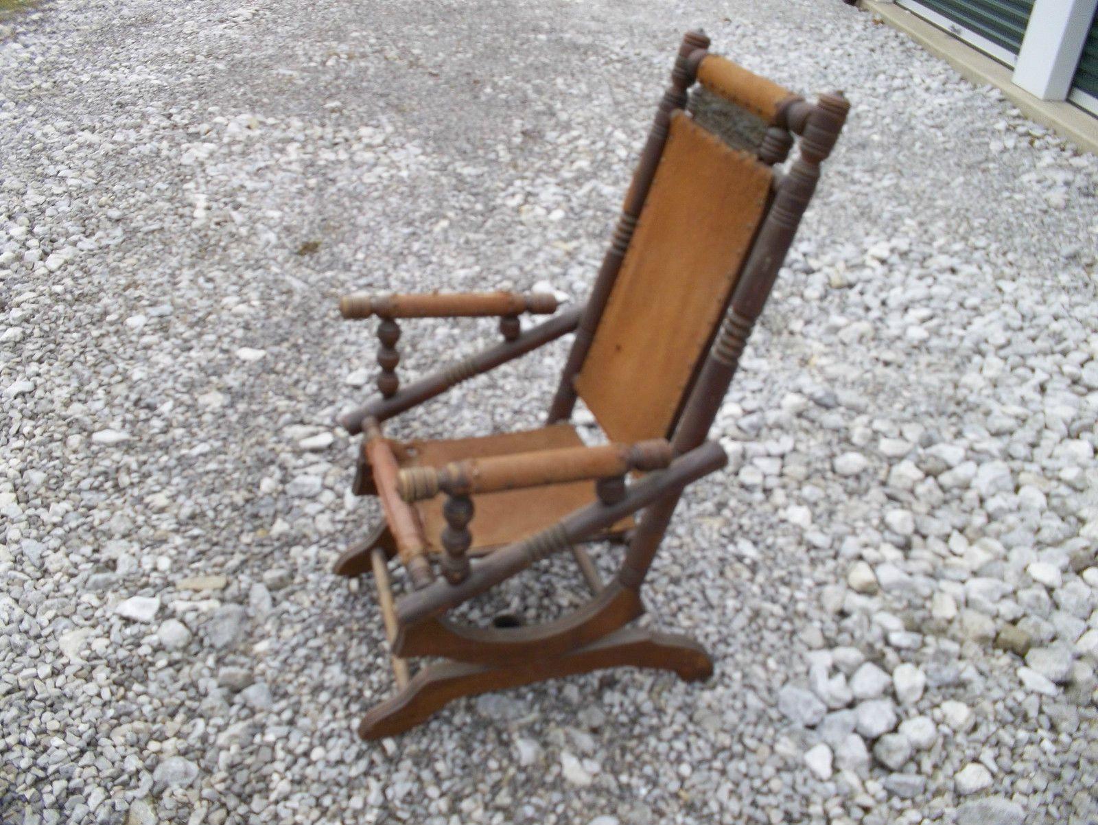 antique spindle rocking chair personalized director old platform rockers vintage pedestal rocker