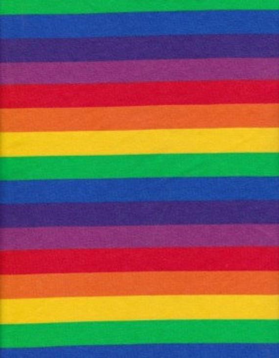e5c5ffa7d51 Rainbow Stripes on Cotton Lycra Jersey Fabric [SKU:MFR2FAB001 ...