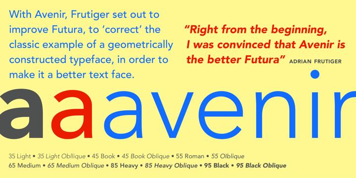 Avenir® - Desktop font « MyFonts | Designer Dosier | Fonts, Serif