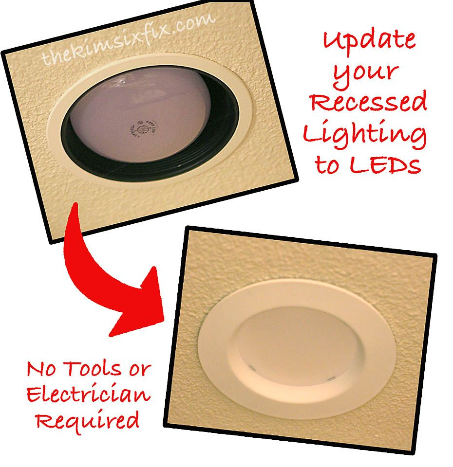Led Bathroom Pot Lights how to upgrade recessed lights to leds (tutorial) | the kim six
