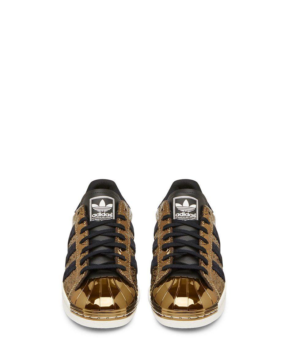 Adidas Originals negro y oro Superstar low - top zapatilla ss15adid1