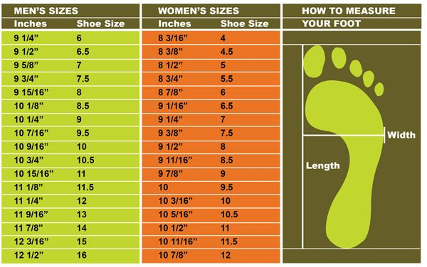 Very Useful Charts For Sock Sizing Subtract 5 From