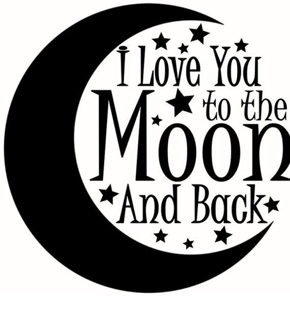 aab4d074 Image result for love you to the moon and back clip art ...
