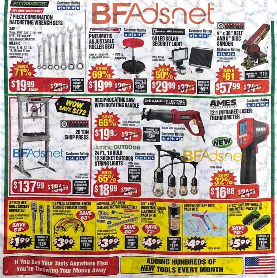 Harbor Freight Black Friday 2018 Ad Scan Deals And Sales Harbor Freight Black Friday 2018 The 8 Page 106 I Black Friday Black Friday Ads Black Friday Stores