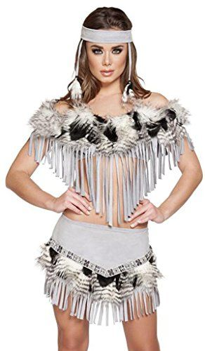 Sexy Ojibwa Indian Princess Halloween Costume - Grey/Black - Large Musotica http://www.amazon.com/dp/B013NJ3EHA/ref=cm_sw_r_pi_dp_yYJ5vb0R057EY