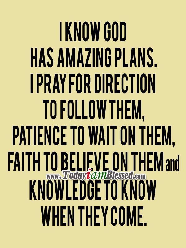 I Know God Has Amazing Plans - #WORKLAD